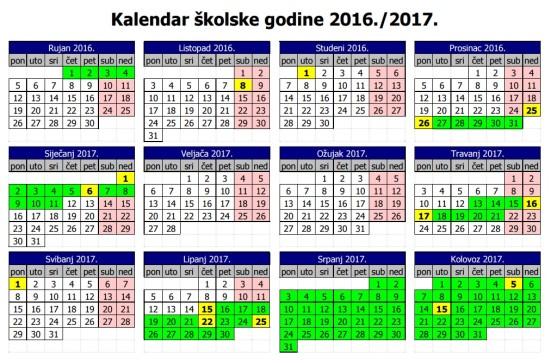 09d753ec03 Osnovna škola Ludbreg - Novosti - Kalendar školske godine 2016. 2017.